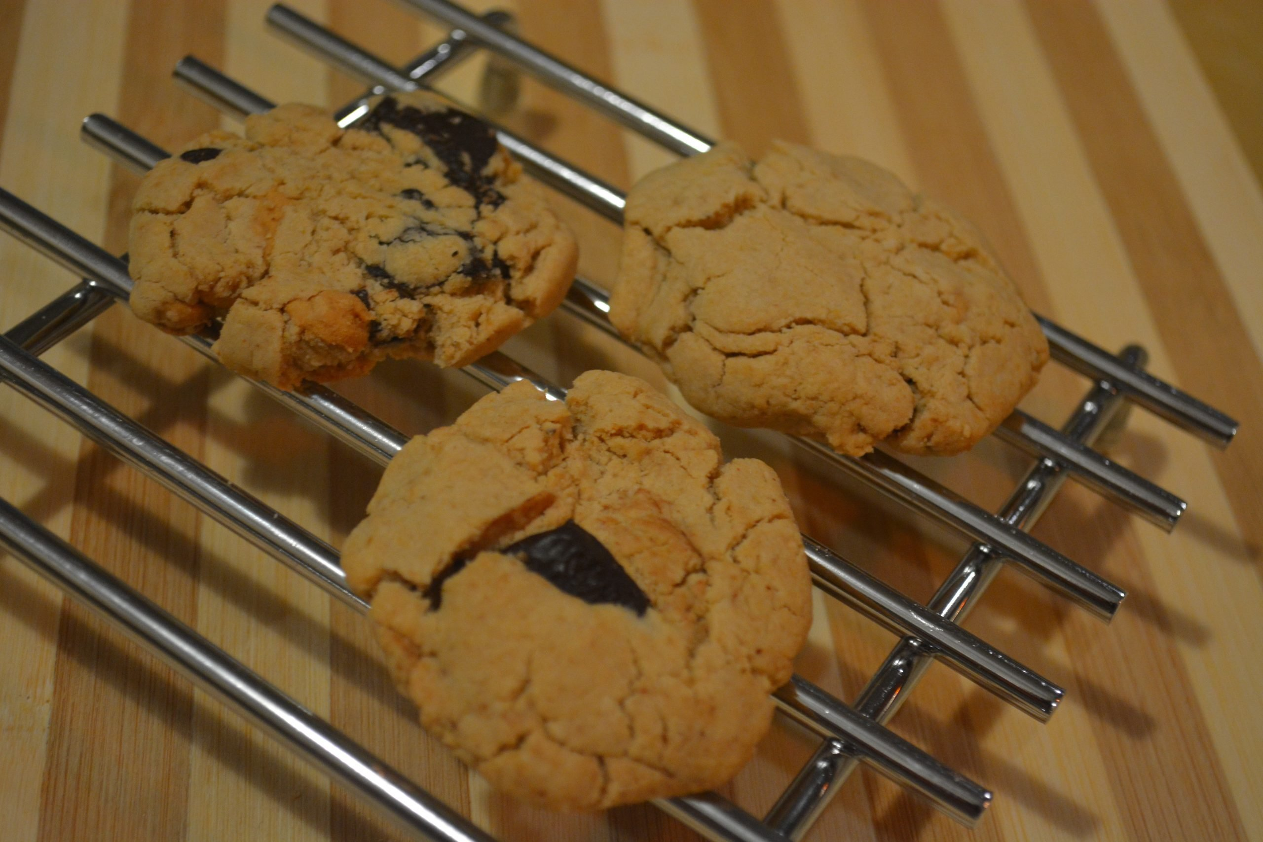 GF Peanut Butter Chocolate Chunk Cookies
